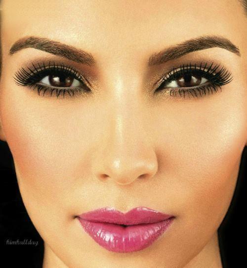 kim kardashian machiaj make-up