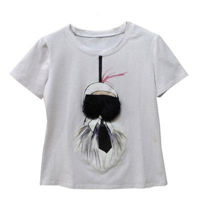 tricou-bumbac-imprimat-Karlito-alb